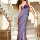 22730-6226 Strapless chiffon dress with heavily beaded empire.