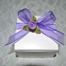 130x130 sq 1371941423649 favor box  purple ribbon with purple rosebud
