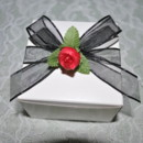 130x130 sq 1371941606068 favor box  black ribbon with red rosebud