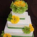 130x130 sq 1295048268536 whitewithflowersandribbonfauxcake