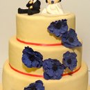 130x130 sq 1318460767303 purpleflowerweddingcake