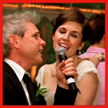 220x220 sq 1391718022946 happy bride sings with adam james at her own weddi