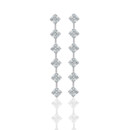 Asscher cut diamond earrings by designer, Daniel K