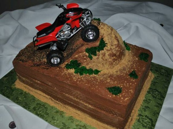 Four Wheeler Grooms Cake