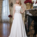 8772 Chiffon ball gown embellished with a strapless neckline