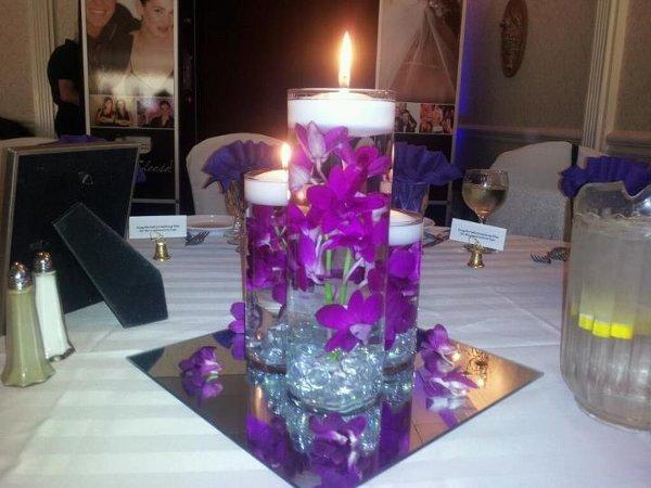 Modern Purple Centerpieces Wedding Dresses Photos