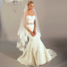 3165 Willow This timeless alencon lace, fit and flair gown is paired with an elegant beaded belt and perfect sweetheart neckline.