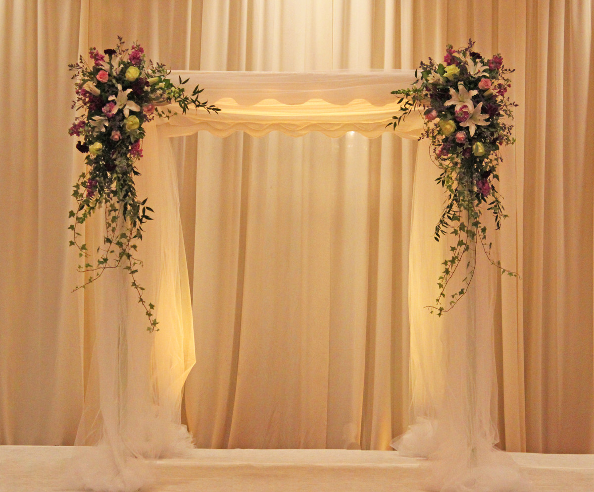 Classic Formal Romantic Purple White Ballroom Chuppah