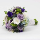 130x130 sq 1415830232785 purple and white bouquet