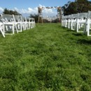 130x130 sq 1449773103450 log cabin lawn ceremony set up