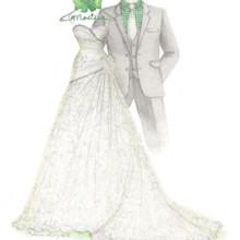 Dreamlines Personalized Wedding Dress Sketch - Favors ...