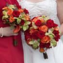 130x130 sq 1397672476348 red and orange roses green cymbidiums orange calla