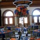 130x130 sq 1397673021155 orange roses blue hydrangea orange dahlia