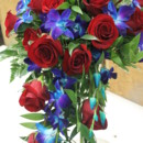 130x130 sq 1469639273153 blue dendrobium orchids and red roses