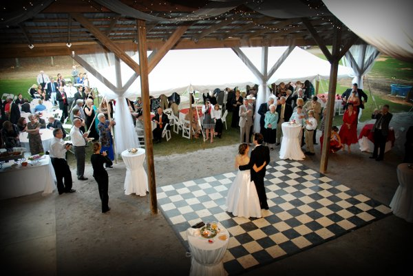 White chairs dance floor fall outdoor ceremony outdoor for 12 by 12 dance floor