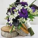 130x130 sq 1390428484514 bb0754 purple and white brides bouque