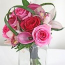 130x130 sq 1390612117479 bb0872 classic pink rose and orchid bouque