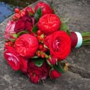 130x130 sq 1390863761601 bb0429 red garden rose and hypericum berry bouque