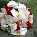 130x130 sq 1390863767002 bb0583 red rose and white orchid bouque