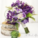 130x130 sq 1393677761935 bb0761 woodland purple and ivory brides bouque