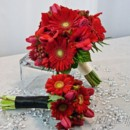 130x130 sq 1393678322390 bb0519 red gerbera daisy and tulip bouquet