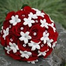 130x130 sq 1393678326641 bb0574 red rose and white stephanotis with rhinest