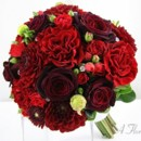 130x130 sq 1393678327999 bb0879 red garden rose and dahlia bouque
