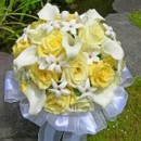 130x130 sq 1393679467868 bb0127 soft yellow rose and lily brides bouque