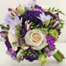 130x130 sq 1421033483629 bb0912 purple pallet brides bouquet