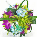 130x130 sq 1421033605404 bb0948 vibrant green teal and plum wedding bouquet