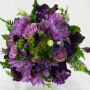 130x130 sq 1421033633498 bb0968 purple dahlia summer wedding bouquet
