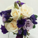 130x130 sq 1421033662674 bb0973 ivory purple and lavender brides bouquet