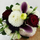 130x130 sq 1421033708547 bb1000 purple burgundy and white bridal bouquet
