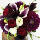 130x130 sq 1421033715840 bb1001 deep purple and red mini calla bouquet