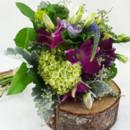 130x130 sq 1421033722646 bb1003 organic natural purple and green bridesmaid