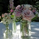 130x130 sq 1459573674905 rf1232 hobnail vase and vintage bottle centerpiece