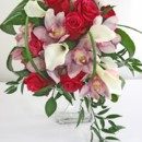 130x130 sq 1459574024057 bb0871 classic pink and white cascadeing bouquet