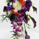 130x130 sq 1459574034720 bb0972 cascading purple and white wedding bouquet