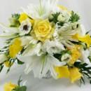 130x130 sq 1459574091042 elegant white and yellow brides bouquet 1