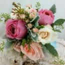 130x130 sq 1459575043132 petal pink and watermelon garden rose bouquet 1 1