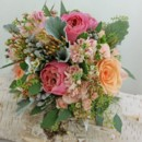 130x130 sq 1459575047933 watermelon and pink brides bouquet