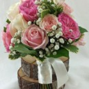 130x130 sq 1459654655389 bb1025 pink garden rose and babys breath wedding b