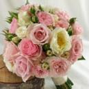 130x130 sq 1459654660257 bb1028 pink garden rose brides bouquet