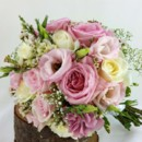 130x130 sq 1459654680001 bb1057 pink and white wedding bouquet with babys b