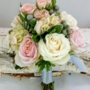 130x130 sq 1459654702144 bb1135 light pink and gray attendants bouquet