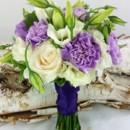 130x130 sq 1459654985078 bb1162 lavender and white bridesmaids bouquet