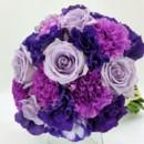 130x130 sq 1459655343408 bb1111 round purple carnation brides bouquet
