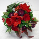130x130 sq 1459655637102 bb0086 silver red and white wedding bouquet