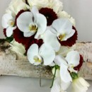 130x130 sq 1459655670033 bb1149 red and white phalaenopsis brides bouquet