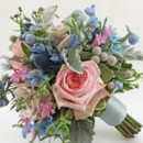 130x130 sq 1459655795607 bb0934 pale pinks and blues vintage garden bouquet